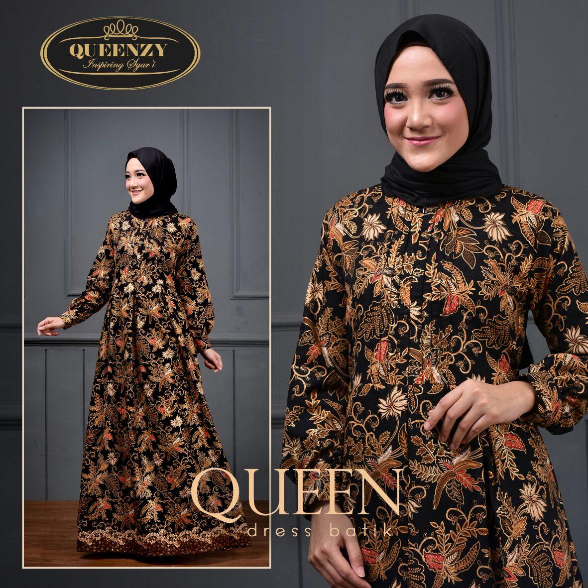 TERBARU! WA 9 9 9 9 Jual Gamis Batik  Queen Dress Batik