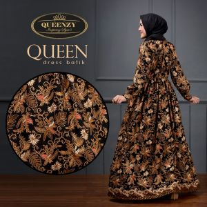 Gamis Batik Kombinasi Polos Gamis Batik Modern